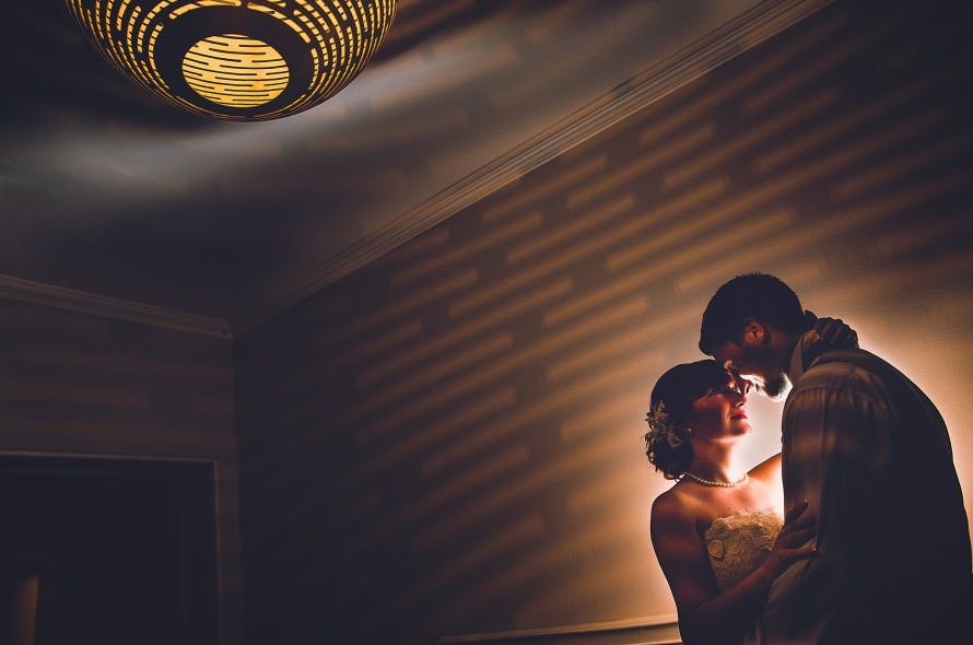 Creative wedding photography at the Norfolk Mead Hotel