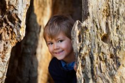 family photography in a Norfolk woodland