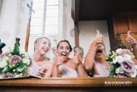 Excited Bridesmaids at a wedding in Norfolk