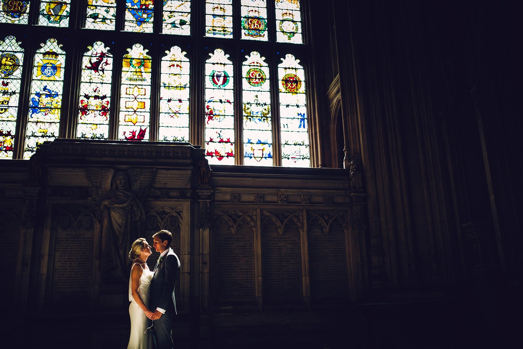 Bride and Groom at House of Commons Wedding