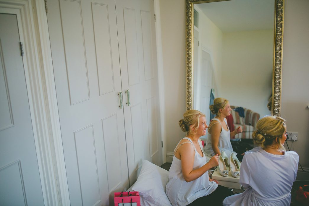 bridesmaids getting ready at a Norwich wedding