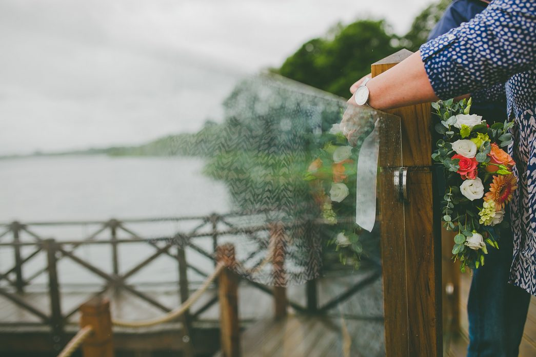 flowers arrive at the Boathouse wedding venue