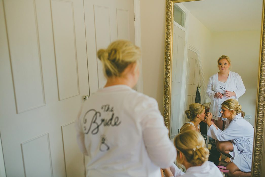 bridal preparations at the Boathouse