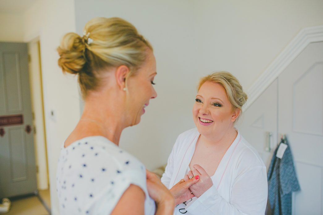 bride and maid of honour at the boathouse wedding venue