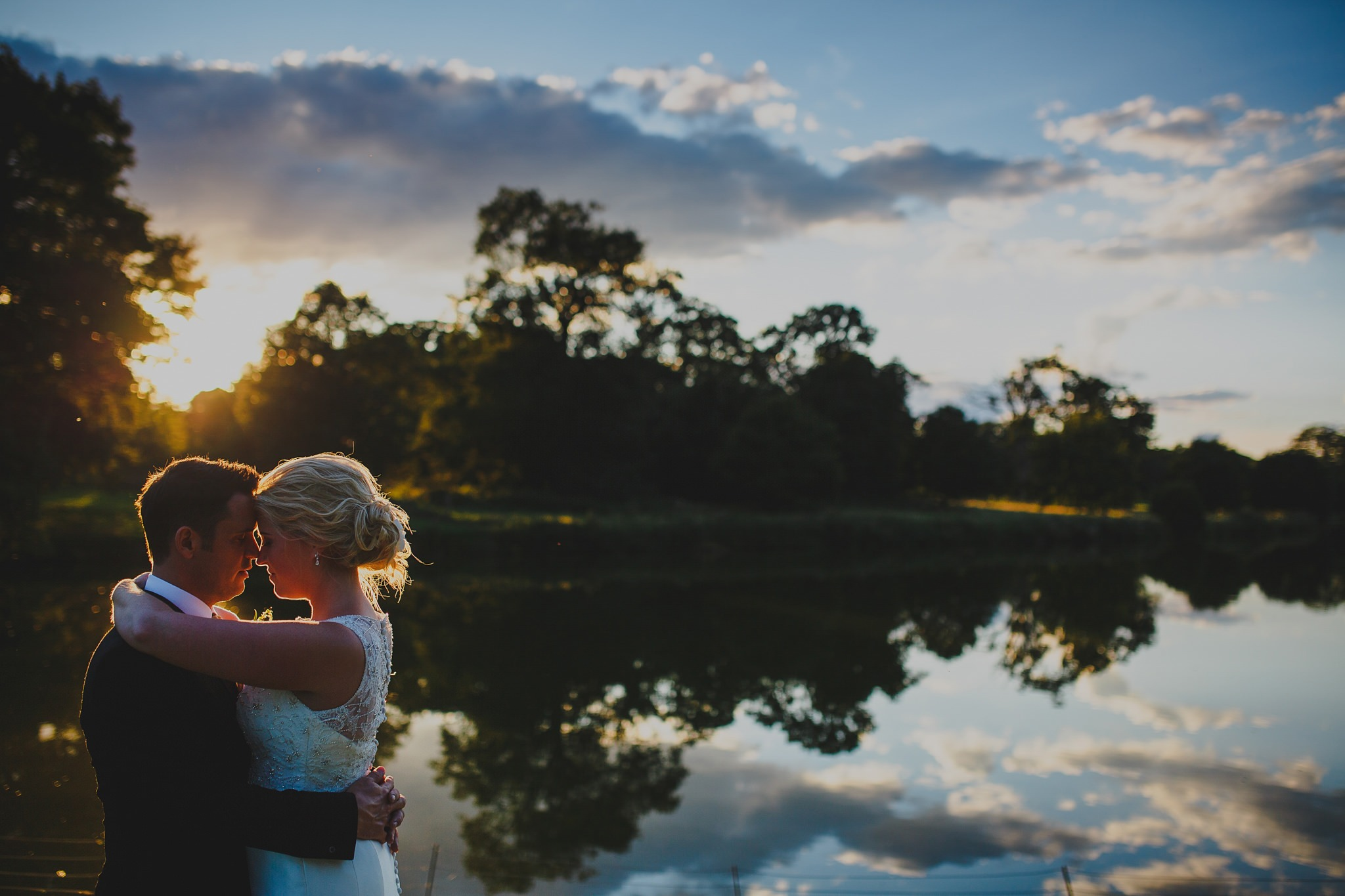 Sunset wedding portrait in North Norfolk