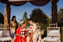 A wedding at Chippenham Park