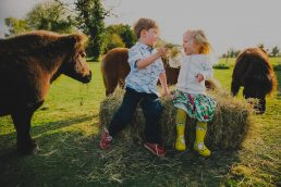 Photography of a family on a Norfolk farm