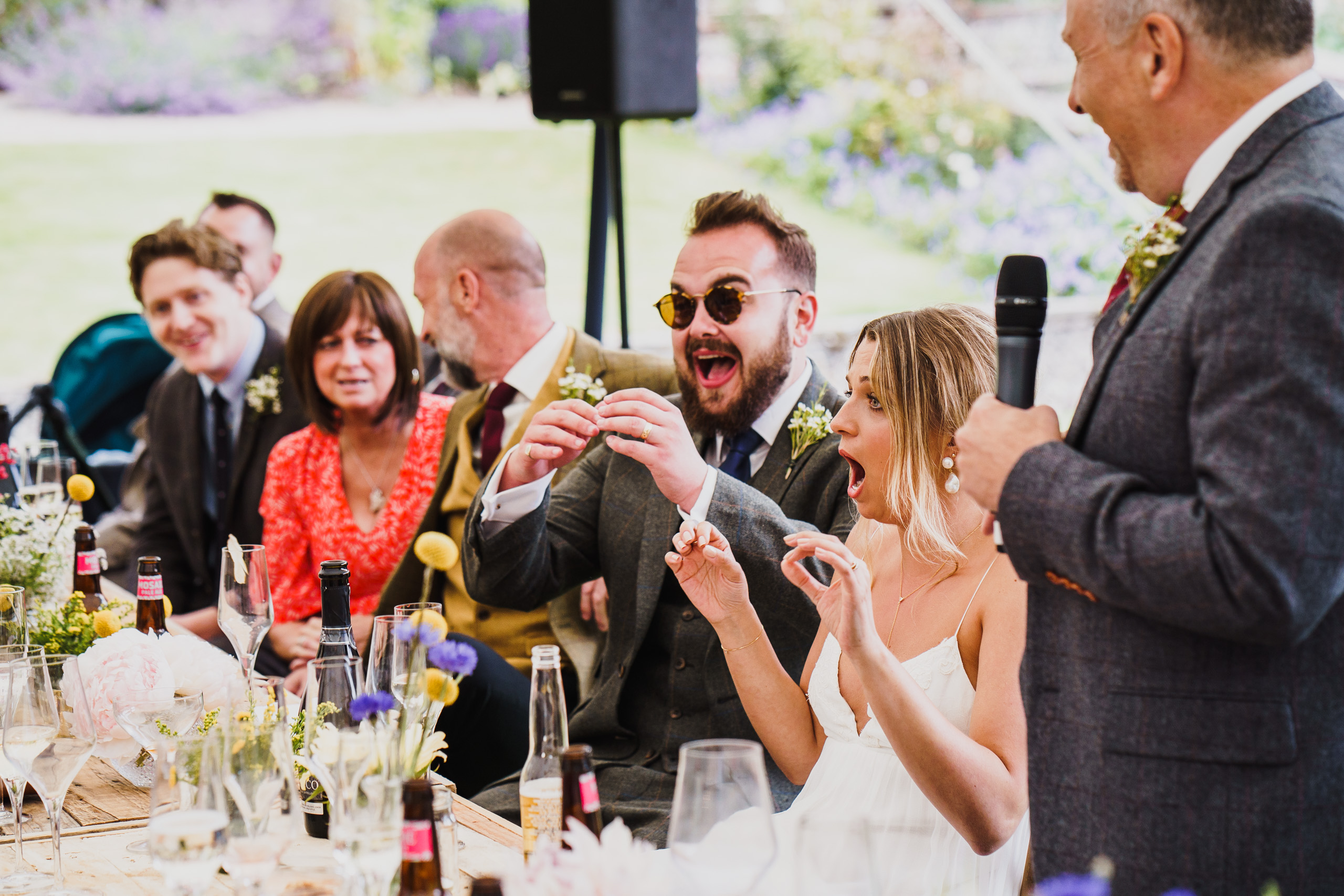 shock at the wedding speeches