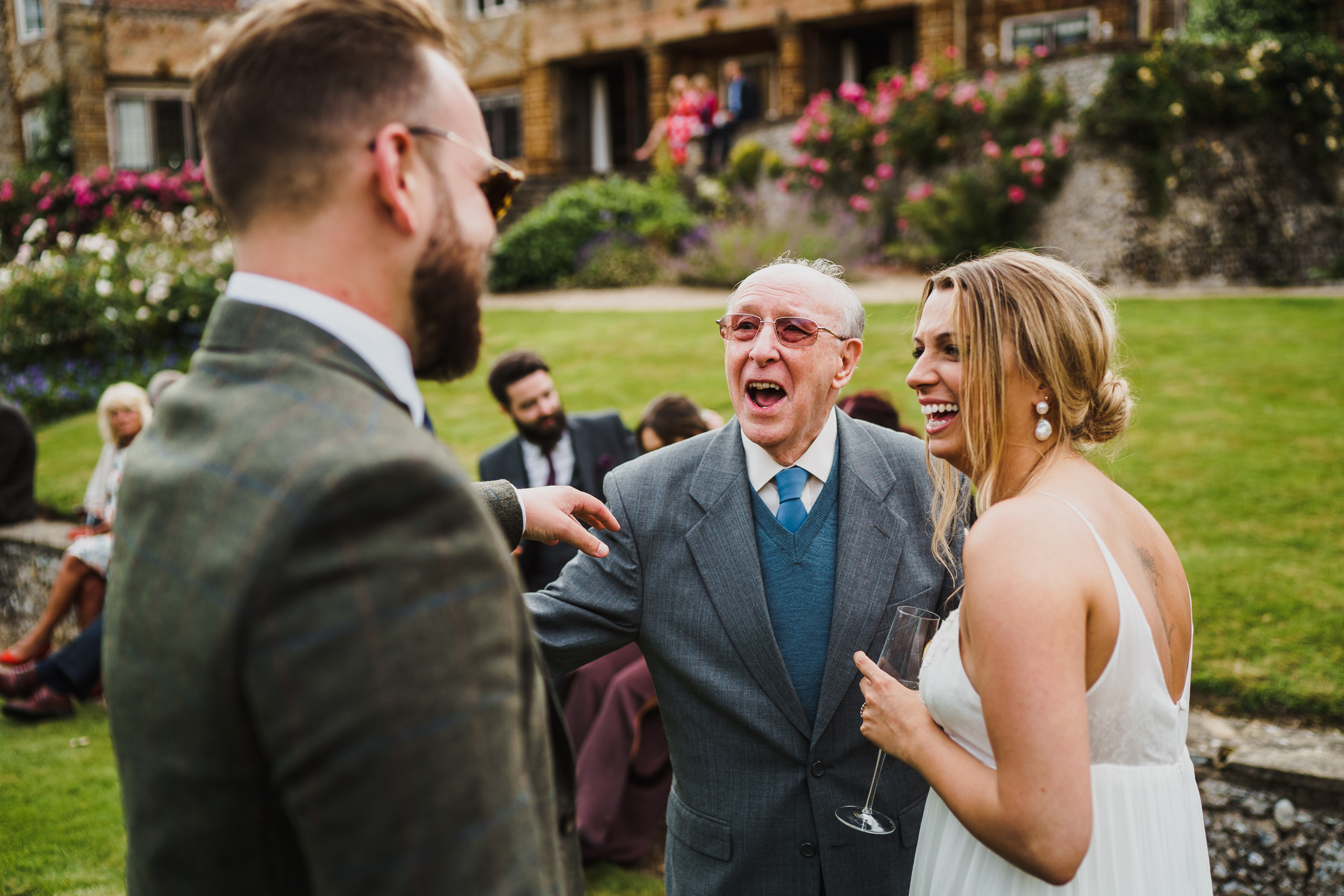 fun and laughter at a voewood wedding