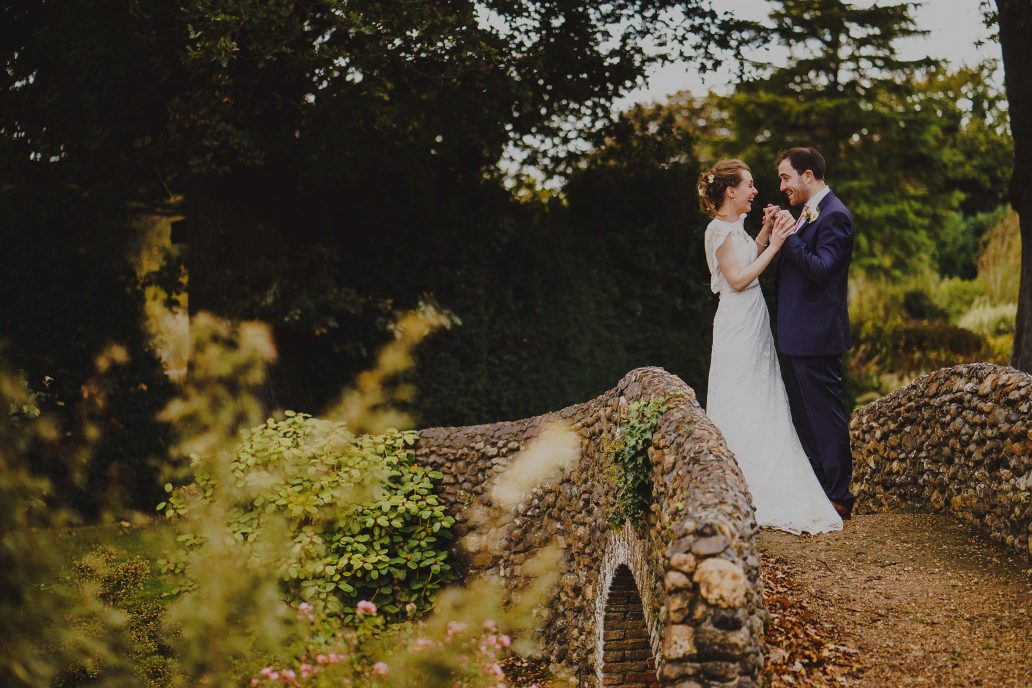 Bride and Groom at Bressingham Hall Wedding