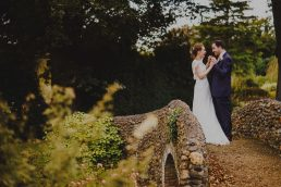 Bride and Groom at Bressingham Hall Wedding in Norfolk