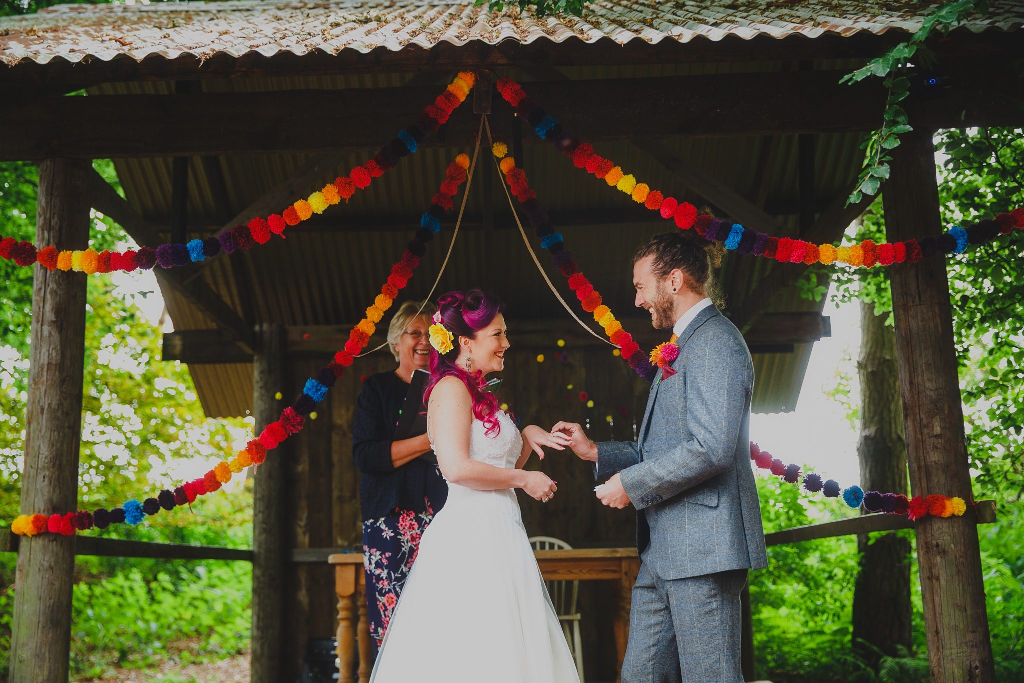 A wedding ceremony at Hush in Norfolk