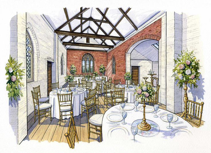 artist impression of the Reading rooms wedding venue