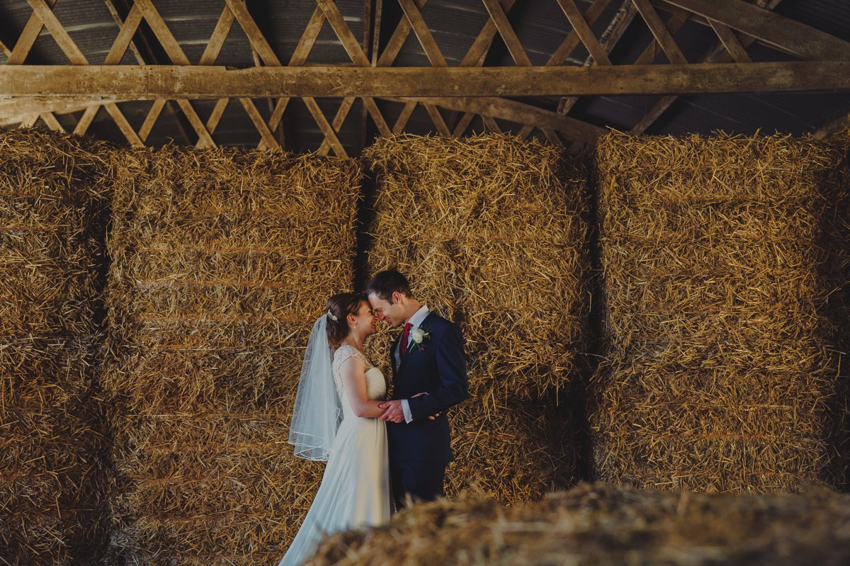 Portrait photography of a bride and groom at a barn wedding venue in North Norfolk