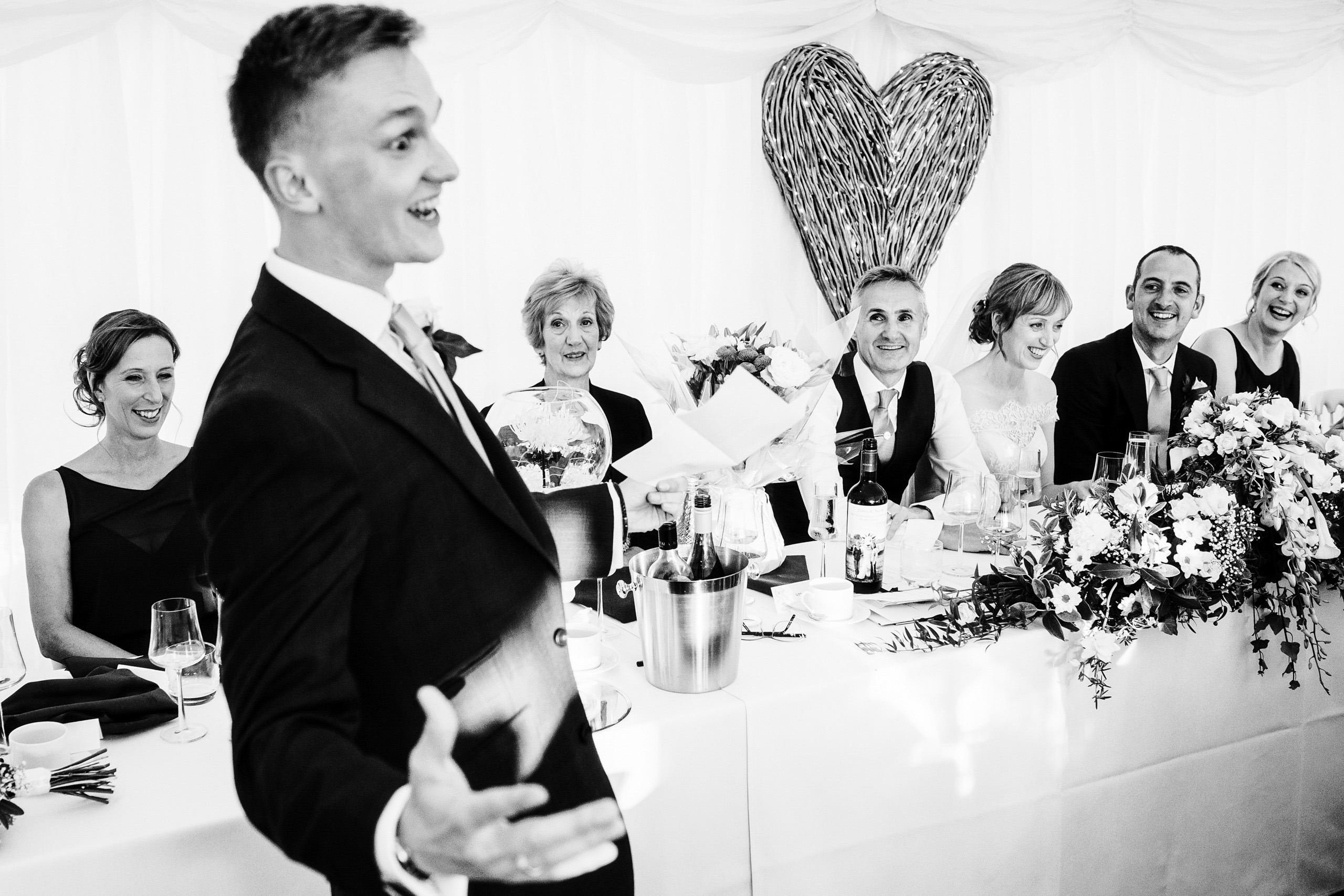 wedding photography at a Suffolk marquee wedding