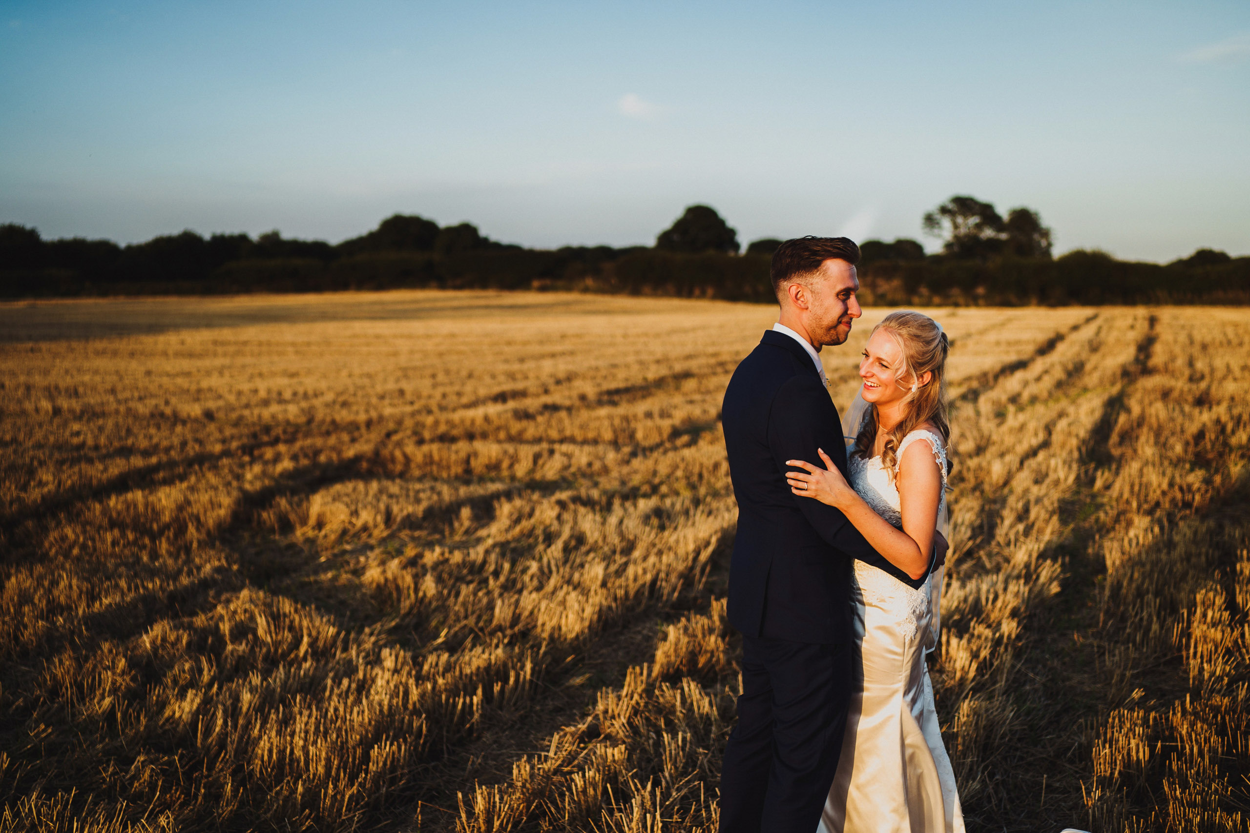 A bride and groom portrait at Pentney Abbey