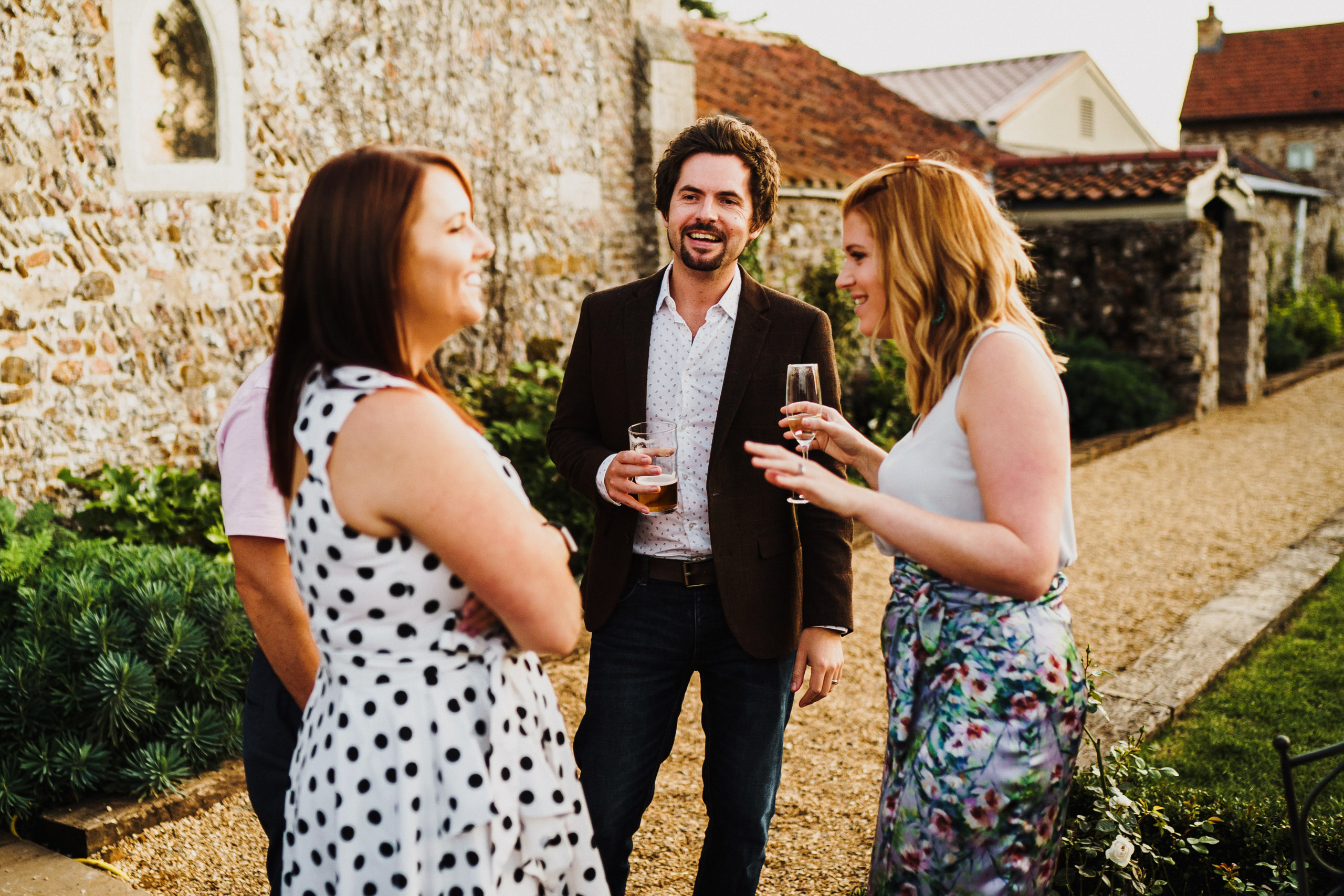Guests at Pentney Abbey wedding