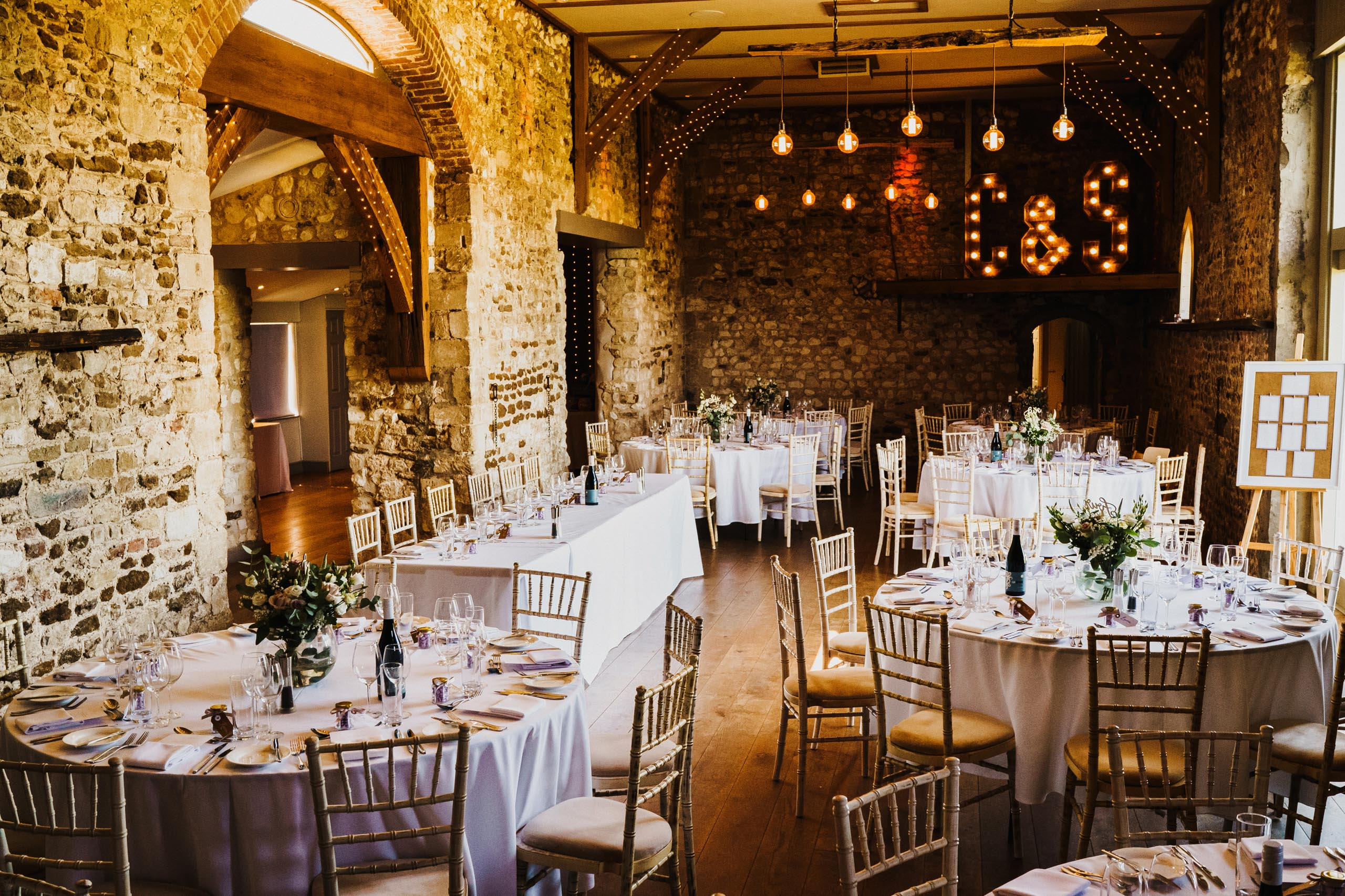 A wedding breakfast at Pentney Abbey