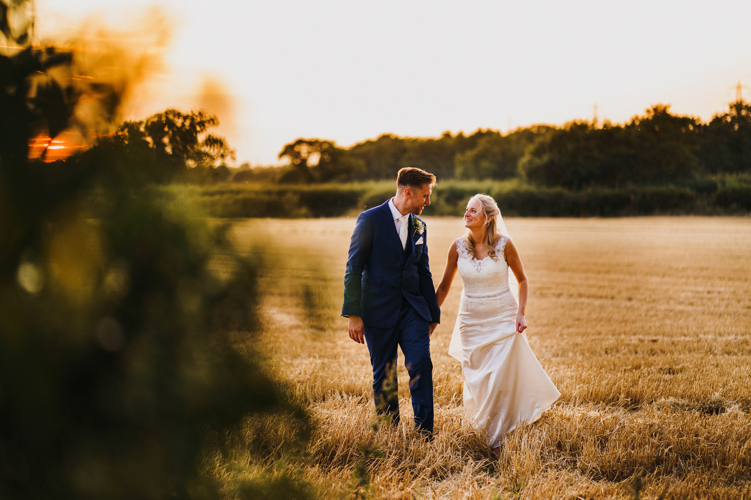 Bride and Groom Portrait at Pentney Abbey