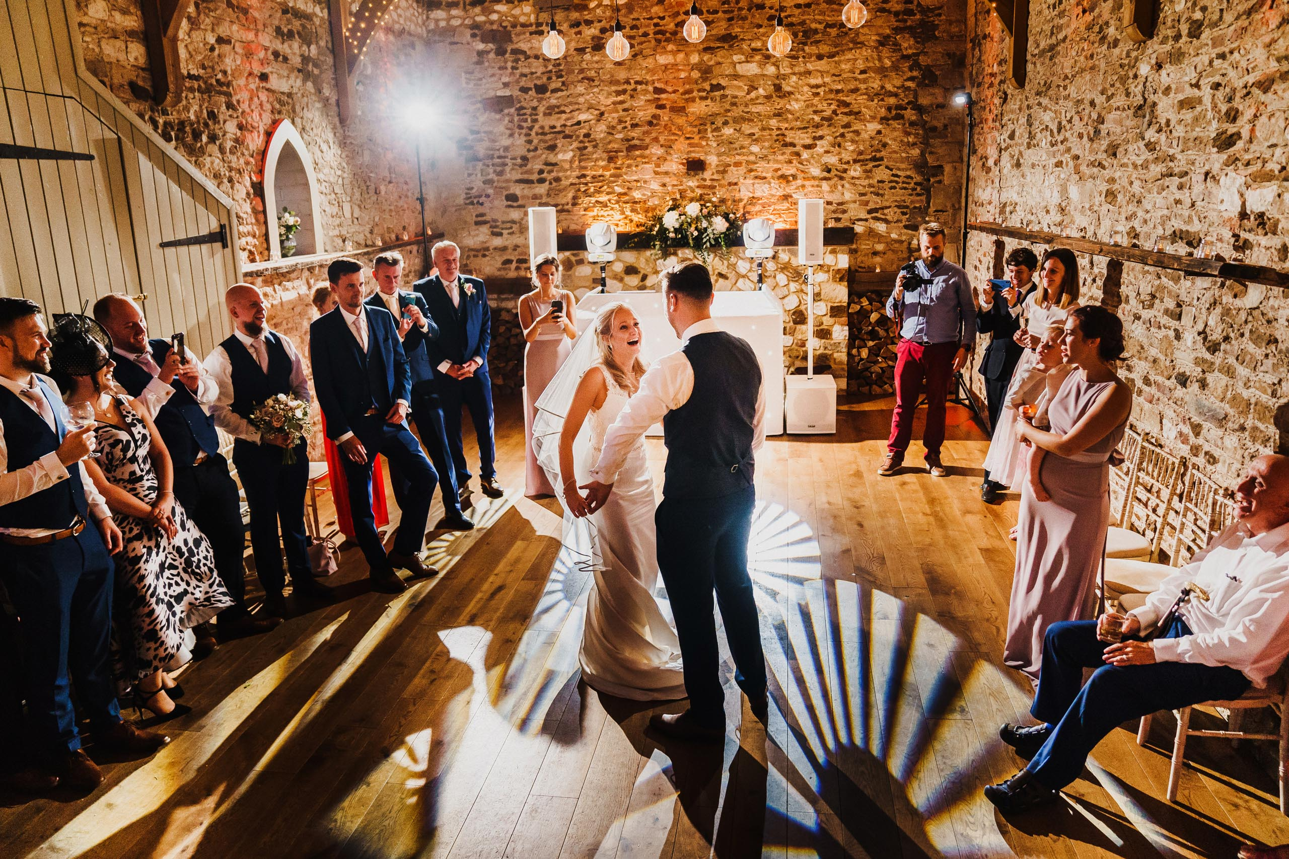 Bride and Groom first dance at a Pentney Abbey wedding