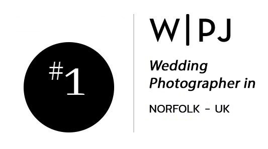 Ranked number 1 awarded wedding photographer in Norfolk by the Wedding Photojournalist Association (WPJA)